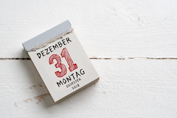 Photo: Kalender mit 31. Dezember